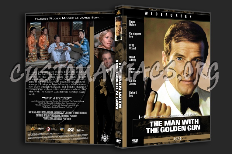 The Man With The Golden Gun - 1974 dvd cover