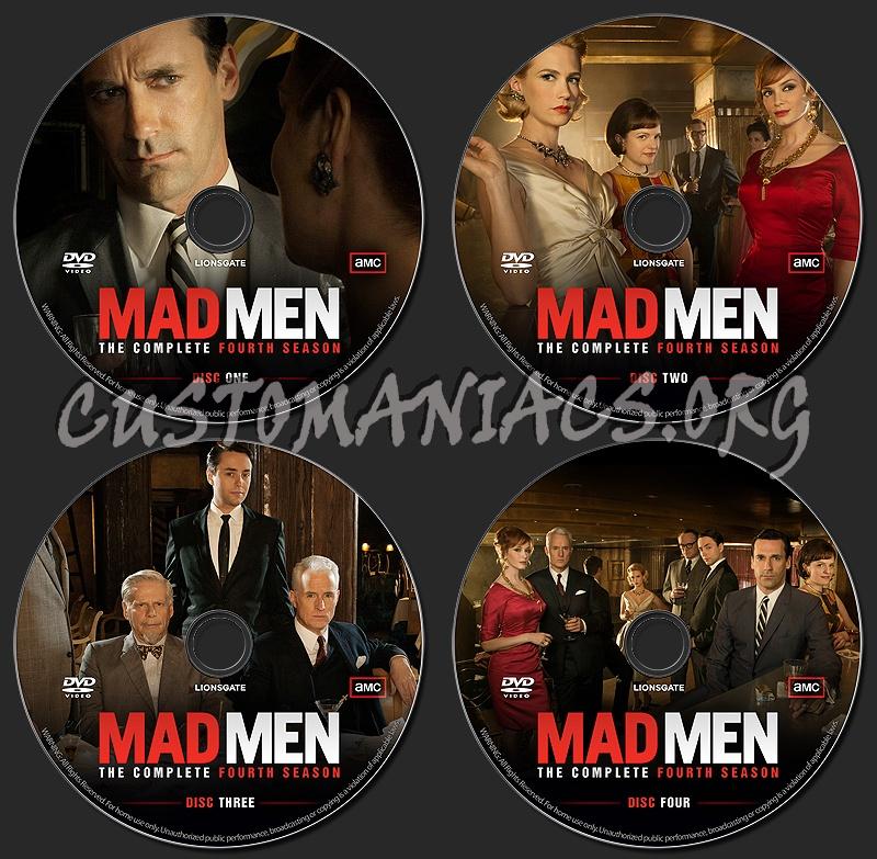 MAD MEN - Season 4 dvd label