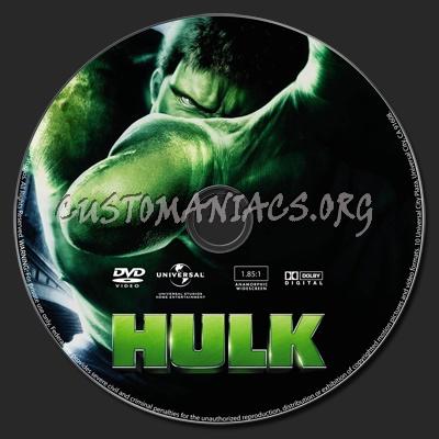The Hulk dvd label