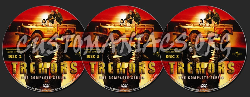 Tremors: The Complete Series dvd label