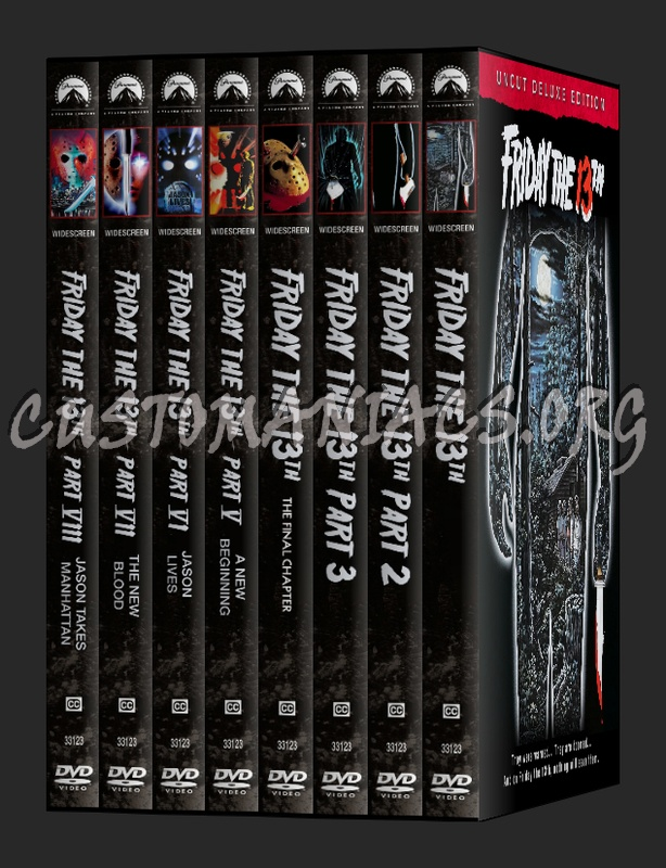 Friday the 13th deluxe edition dvd label dvd covers & labels.