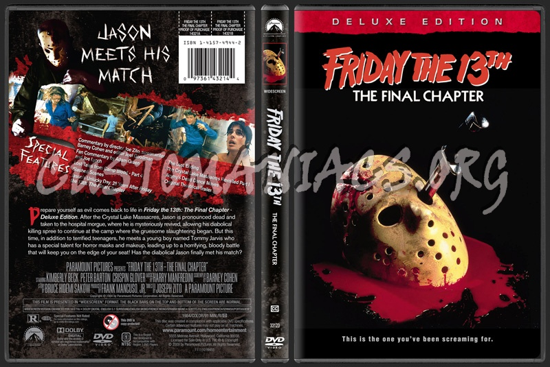 Friday the 13th deluxe edition franchise collection dvd cover dvd