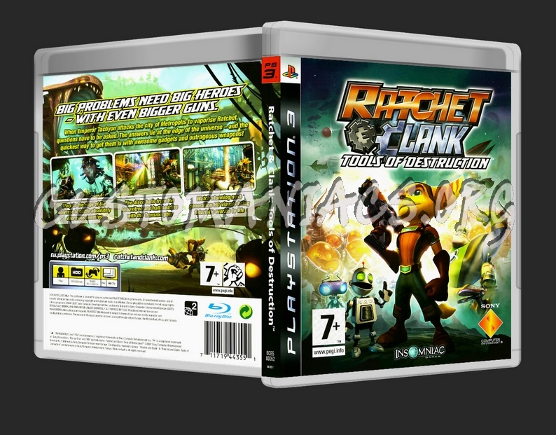 Ratchet Clank Tools Of Destruction Dvd Cover Dvd Covers