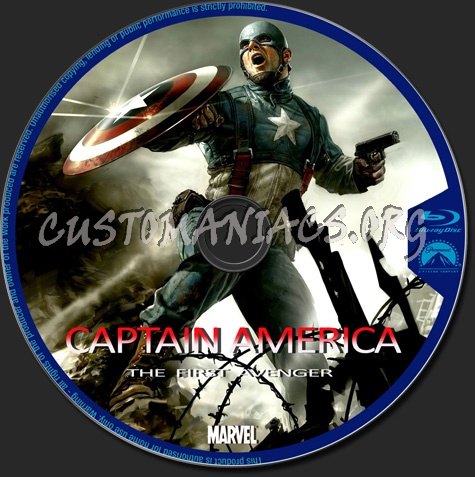 Captain America The First Avenger blu-ray label