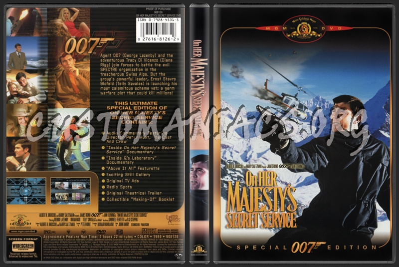 On Her Majesty's Secret Service dvd cover