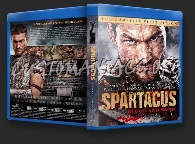 Spartacus Blood & Sand Season 1 blu-ray cover