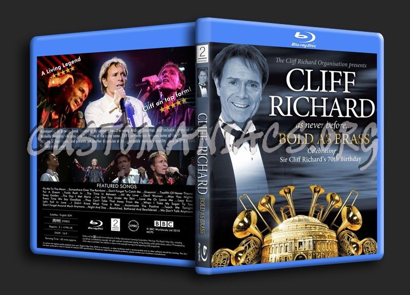 Cliff Richard Bold As Brass blu-ray cover