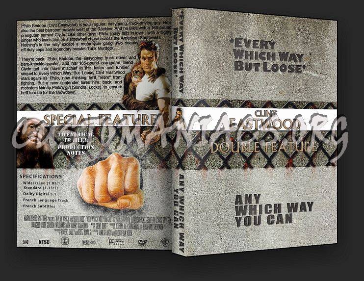 Any Which Way You Can / Every Which Way But Loose Collection dvd cover
