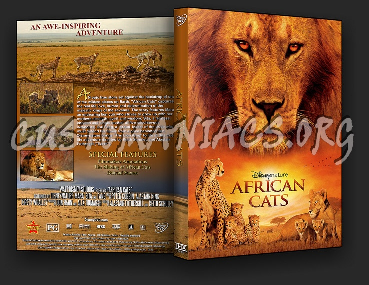 African Cats: Kingdom of Courage dvd cover