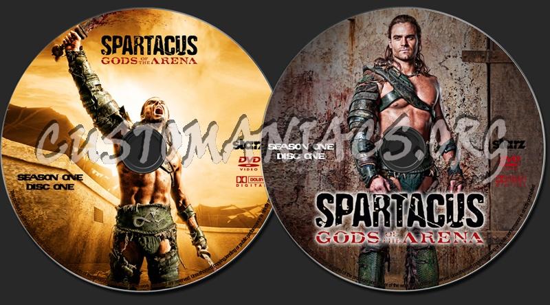 Spartacus: Gods Of The Arena dvd label