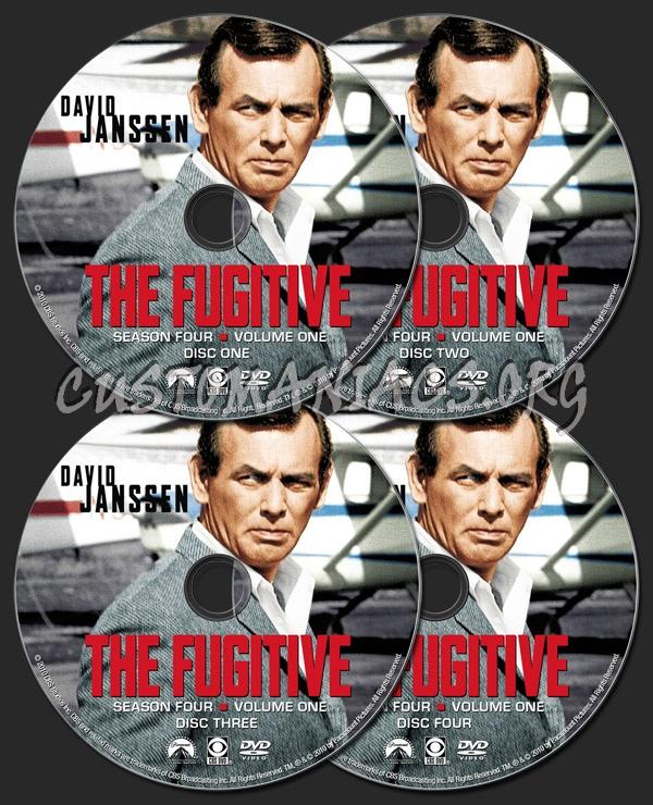 The Fugitive Season 4 Volume 1 dvd label