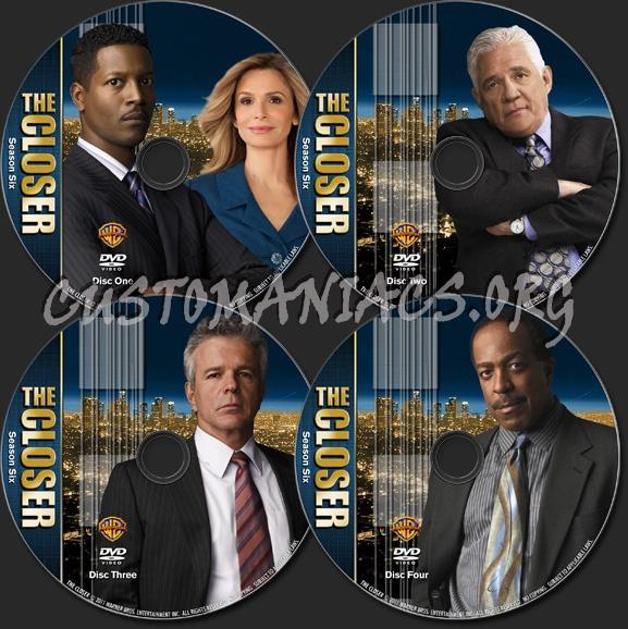 The Closer - TV Collection Season 6 dvd label