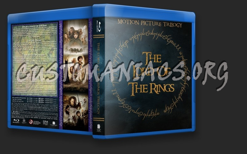 Lord Of The Rings Trilogy blu-ray cover