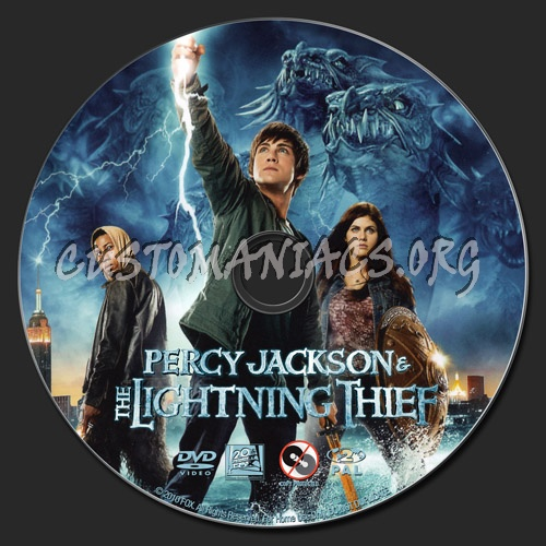 Percy Jackson & The Lightning Thief dvd label