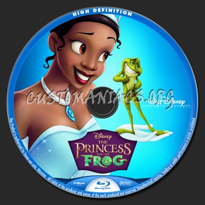 The Princess and the Frog blu-ray label