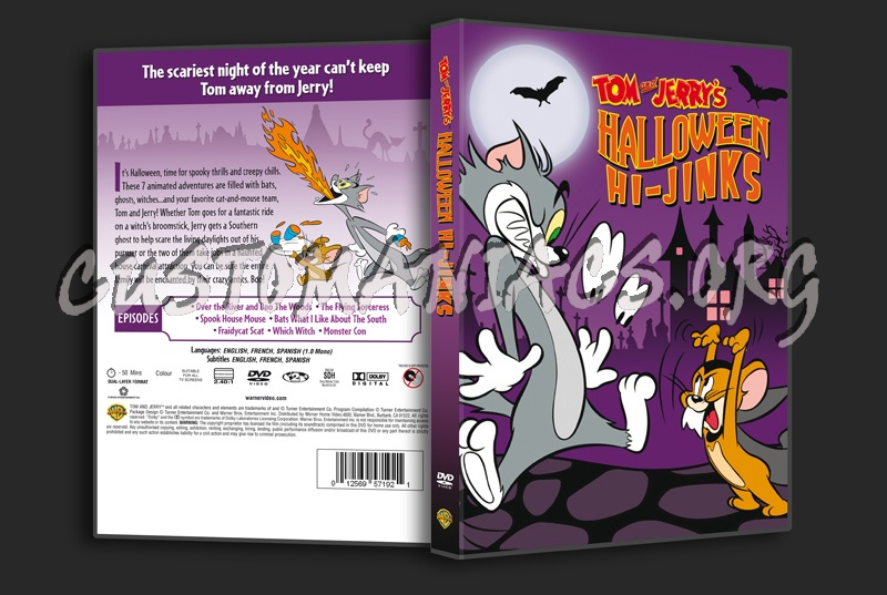 tom  jerry halloween hijinks dvd cover  dvd covers