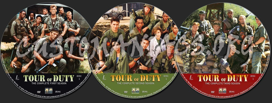 Tour of Duty Seasons 1-3 dvd label