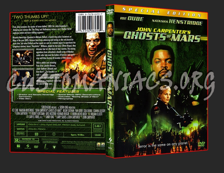 Ghosts Of Mars dvd cover
