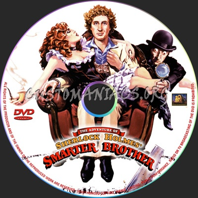 The Adventure Of Sherlock Holmes Smarter Brother dvd label