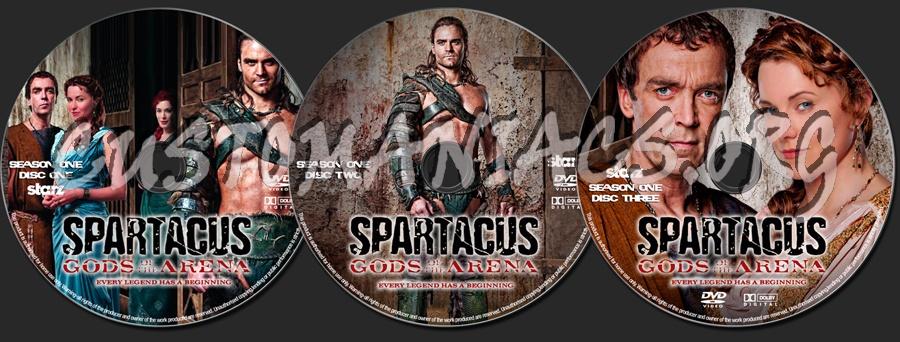 Spartacus : Gods of the Arena dvd label
