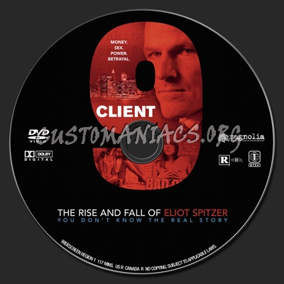 Client 9: The Rise and Fall of Eliot Spitzer dvd label