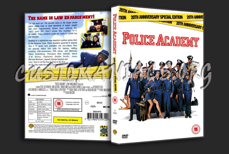 Police Academy 20th Anniversary Special Edition dvd cover