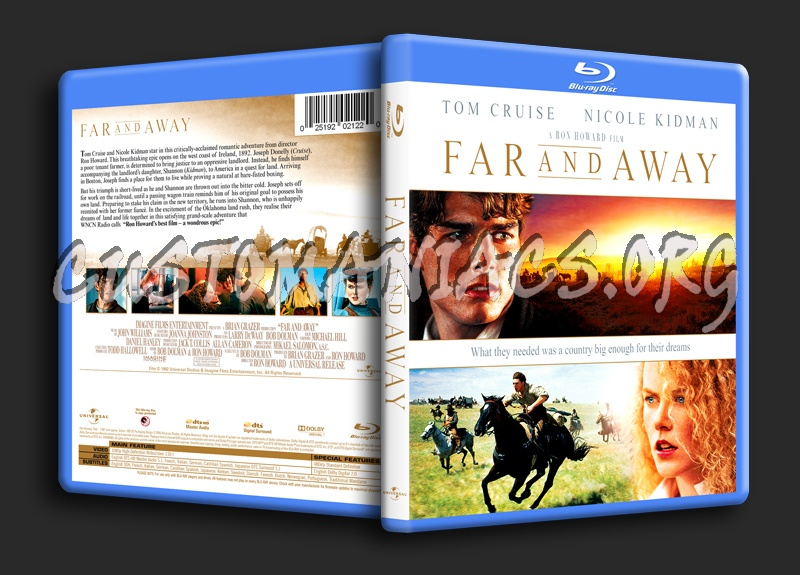 Far And Away blu-ray cover
