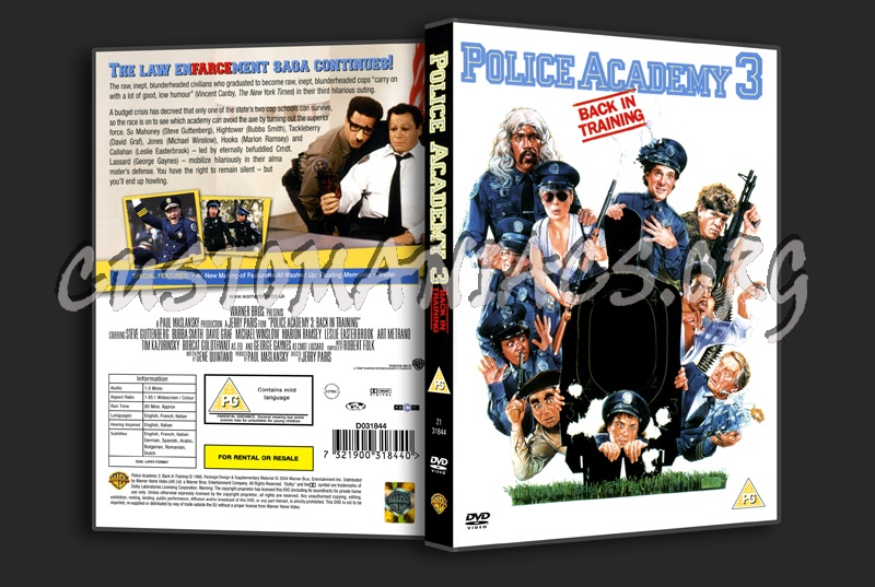 Police Academy 3: Back In Training dvd cover