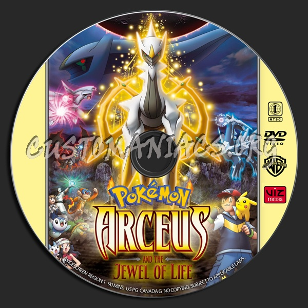Pokemon Arceus And The Jewel Of Life Dvd Label Dvd Covers