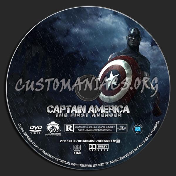 Captain America dvd label
