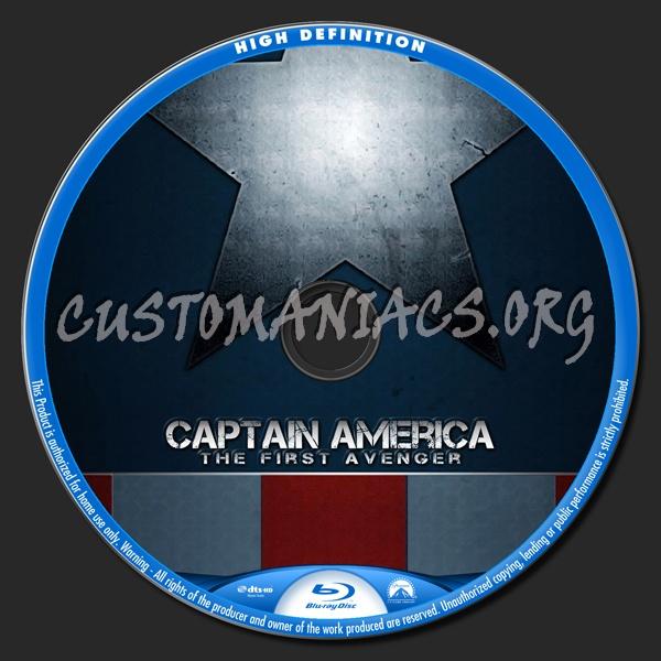 Captain America blu-ray label