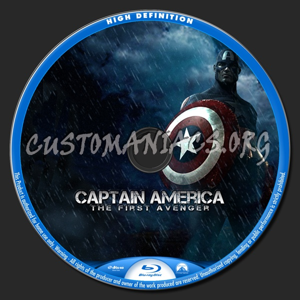 Captain America blu-ray label