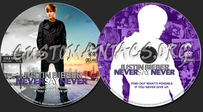 justin bieber never say never dvd label. Justin Bieber: Never Say Never dvd label. The quot;Customaniacs.orgquot; WATERMARK