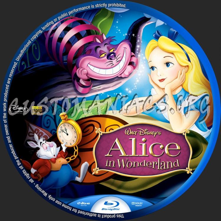 Alice in Wonderland (1951) blu-ray label