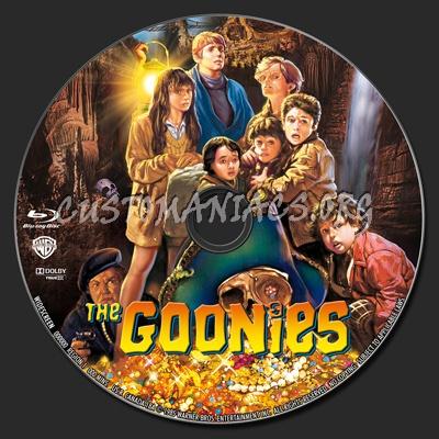 The Goonies blu-ray label
