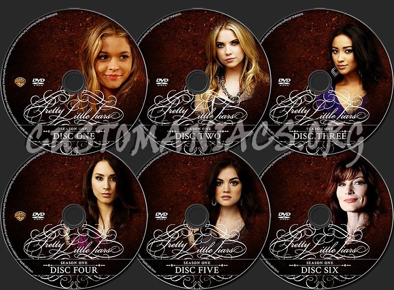 Pretty Little Liars - Season One dvd label - DVD Covers