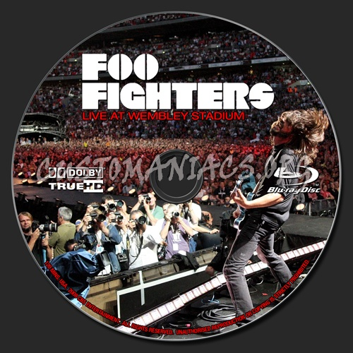 Foo Fighters Live at Wembley Stadium blu-ray label