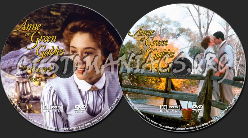 anne of green gables the sequel dvd label dvd covers labels by customaniacs id 129536 free. Black Bedroom Furniture Sets. Home Design Ideas