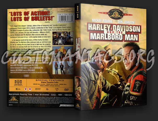 Harley Davidson And The Marlboro Man Dvd Cover Dvd Covers Labels