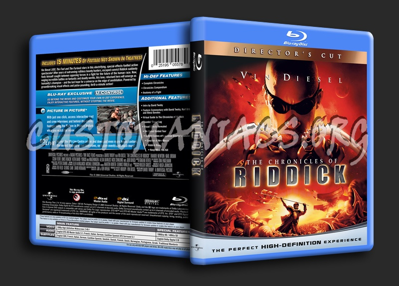 The Chronicles Of Riddick blu-ray cover