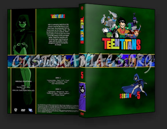 Teen Titans Seasons 4-5 dvd cover