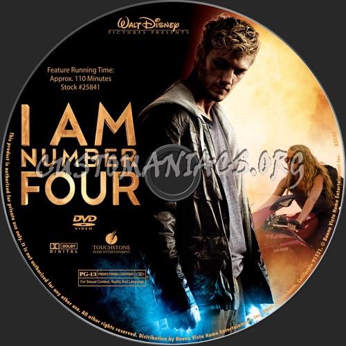 I Am Number Four dvd label
