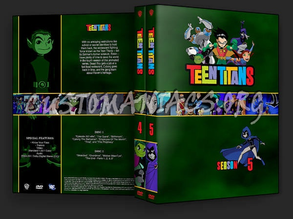 Teen Titans Season 4-5 dvd cover