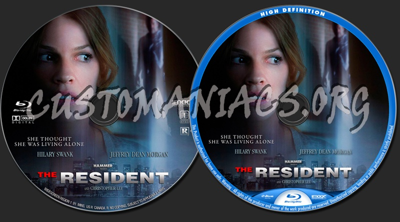 The Resident (2011) blu-ray label