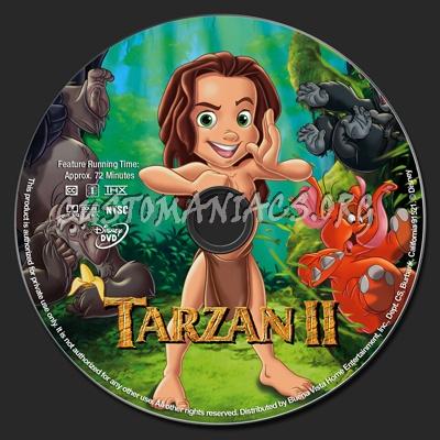 Tarzan 2 Dvd Tarzan 2 Dvd Label