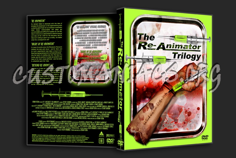 Re-Animator Trilogy dvd cover