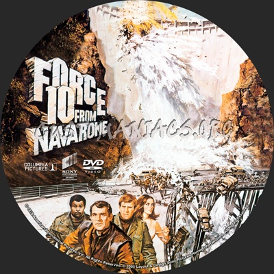 Force 10 From Navarone dvd label