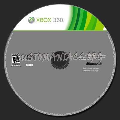 Xbox 360 Disc Label Template Dvd Label - Dvd Covers & Labels By