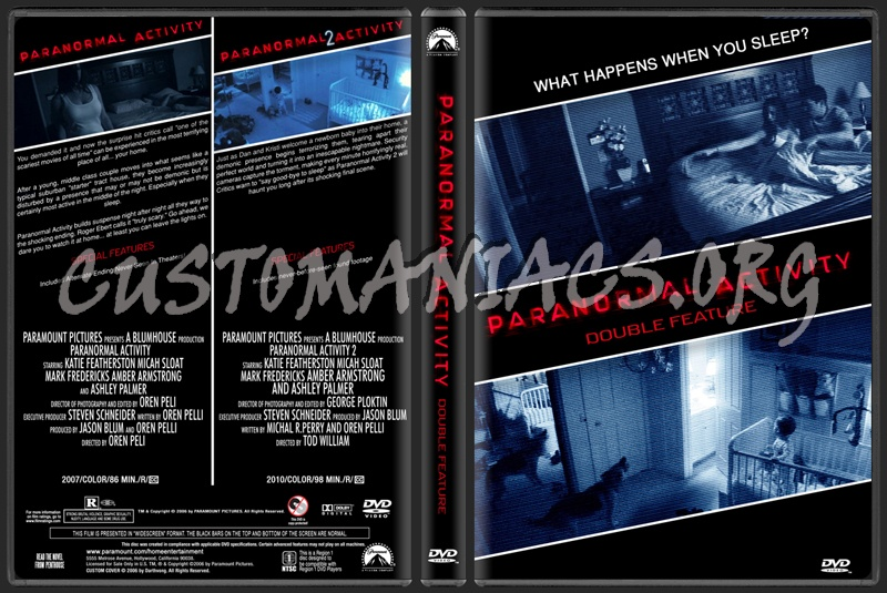 Paranormal Activity Double Feature dvd cover