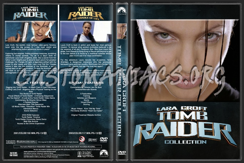 Lara Croft Tomb Raider Collection dvd cover
